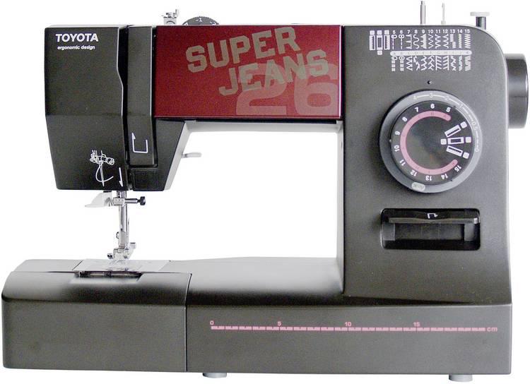 Naaimachine voor jeans met vrije arm Toyota Nahmaschinen SUPERJ26 Zwart (mat)