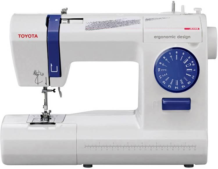 Naaimachine voor jeans met vrije arm Toyota Nahmaschinen ECO17CJ Wit. Donkerblauw
