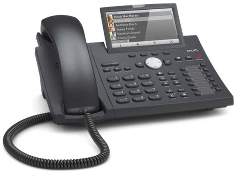 SNOM D375 VoIP systeemtelefoon Zwart