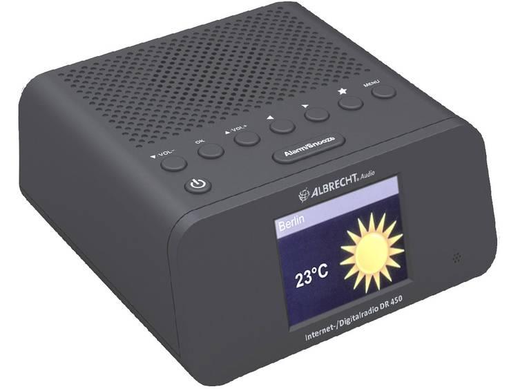 Albrecht DR 450 Wekkerradio met internetradio DAB, FM Internetradio Zwart