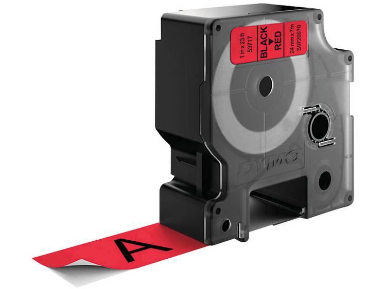 Labeltape DYMO D1 53717 Tapekleur: Rood Tekstkleur:Zwart 24 mm 7 m
