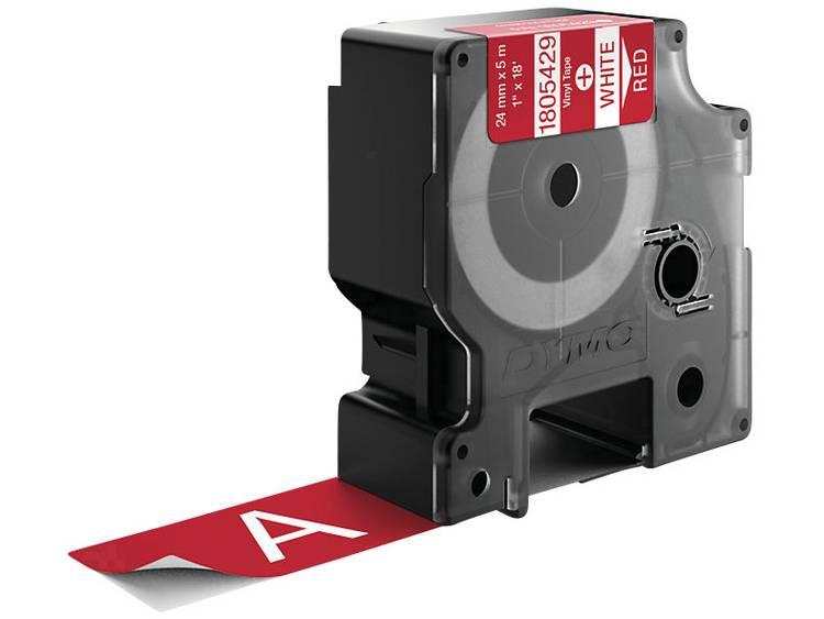 DYMO 1805429 Labeltape Vinyl Tapekleur: Rood Tekstkleur: Wit 24 mm 5.5 m