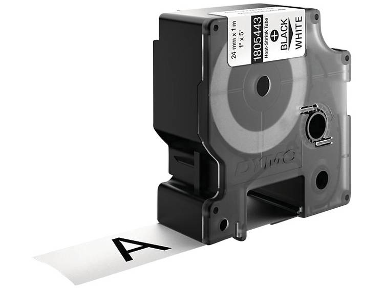 Rhino Tape Shrink 24 Mm Black On White