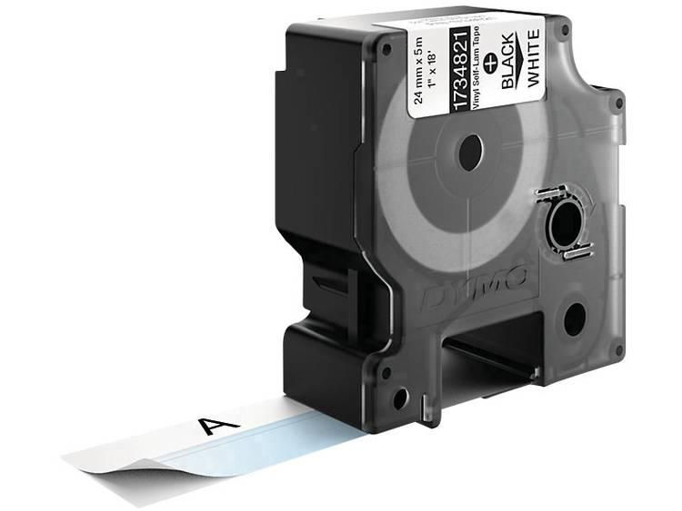 DYMO 1734821 Labeltape zelflaminerend Vinyl Tapekleur: Wit Tekstkleur: Zwart 24 mm 5.5 m