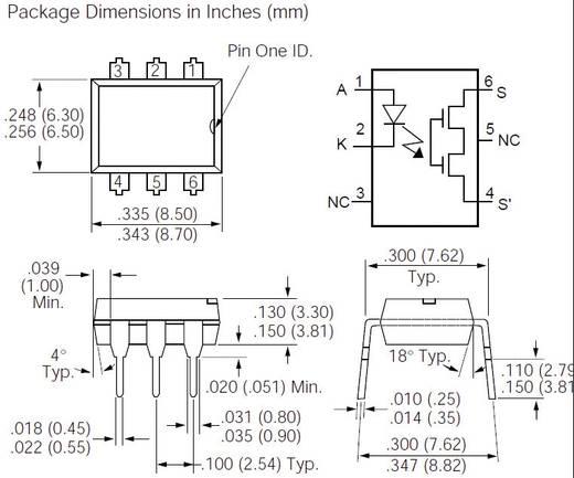 Vishay LH1540AT Halfgeleiderrelais 1 stuks Laadstroom (max.): 60 mA, 150 mA