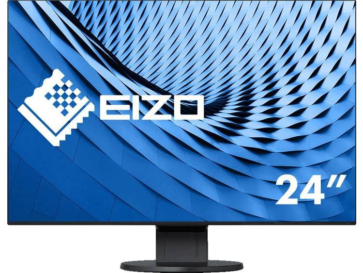 LCD-monitor 61.2 cm (24.1 inch) EIZO EV2456-BK noir Energielabel A++ 1920 x 1200 pix WUXGA 5 ms DVI, DisplayPort, HDMI, USB 3.0, Audio, stereo (3.5 mm