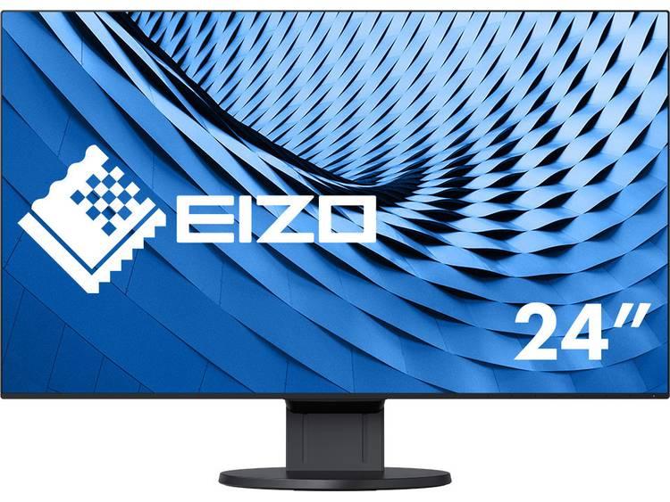 LCD-monitor 60.5 cm (23.8 inch) EIZO EV2451-BK noir Energielabel A++ 1920 x 1080 pix Full HD 5 ms DisplayPort, DVI, HDMI, VGA, Audio, stereo (3.5 mm jackplug),