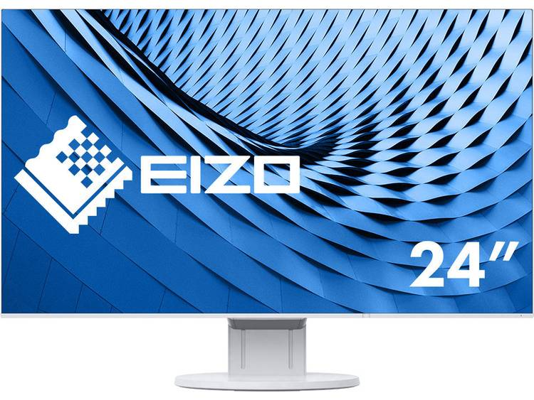 LCD-monitor 60.5 cm (23.8 inch) EIZO EV2451-WT blanc Energielabel A++ 1920 x 1080 pix Full HD 5 ms DisplayPort, DVI, HDMI, VGA, Audio, stereo (3.5 mm