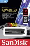 SanDisk USB-stick Cruzer Extreme Go 128GB USB 3.1 zwart