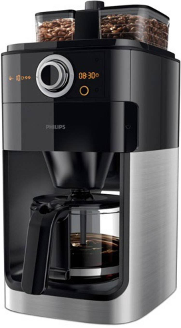 Image of Koffiezetapparaat Philips Zwart, Metaal Capaciteit koppen=12 met koffiemolen