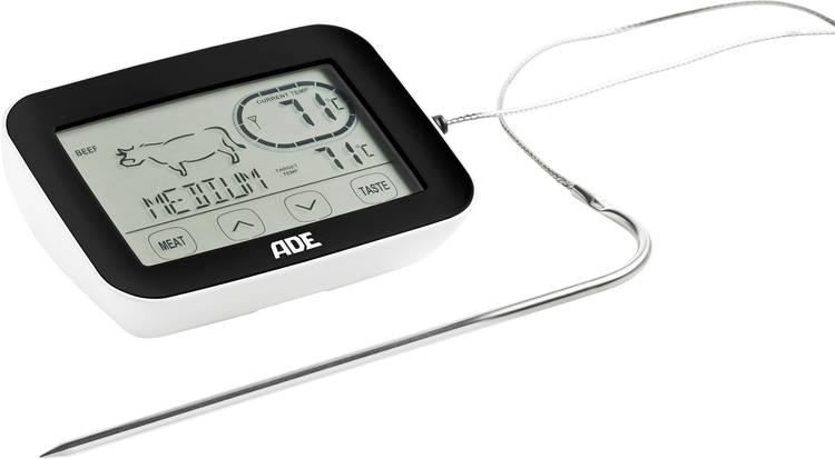 Image of ADE BBQ 1408 Keukenthermometer alarm gehakt, kip, braden, °C /°F-weergave, gevogelte, kalf, lam, kalkoen, rund, varken