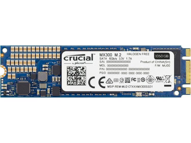 SATA M.2 SSD 2280 harde schijf 1050 GB Crucial MX300 Retail CT1050MX300SSD4 M.2