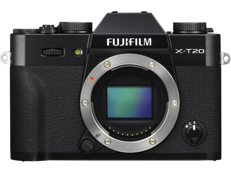 Systeemcamera Fujifilm XT-20 24.3 Mpix Zwart 4K Video, Full-HD video-opname, Elektronische zoeker, W