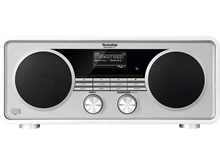 TechniSat DIGITRADIO 600 wit Tafelradio met internetradio DAB+, FM Bluetooth, In