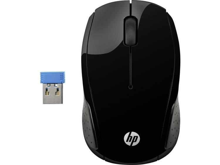 HP Wireless 200 Draadloze muis Optisch Zwart