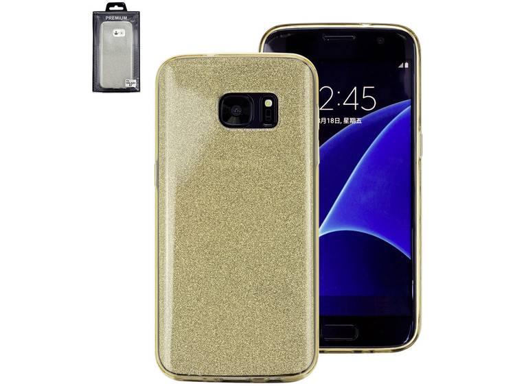 Perlecom GSM backcover Geschikt voor model (GSMs): Samsung Galaxy S6 Edge Goud