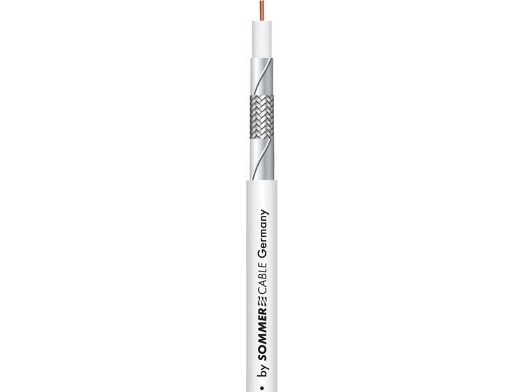 Sommer Cable 601 0950 Coaxkabel Buitendiameter 5.6 mm RG59 75 ? 115 dB Wit Per