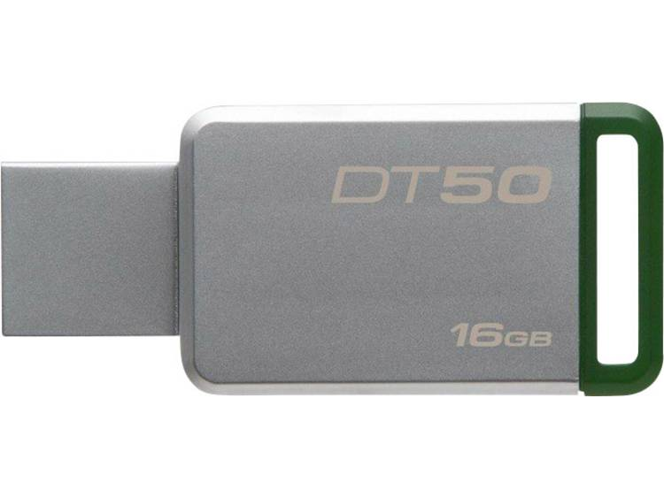 Kingston DT50 USB-stick 16 GB Zilver DT50/16GB USB 3.1