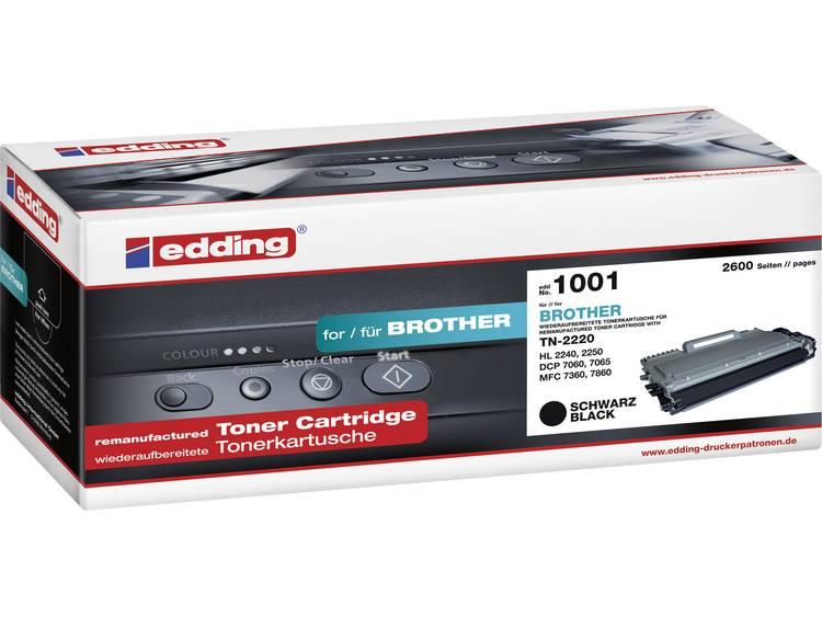 Edding Tonercassette vervangt Brother TN-2210, TN-2220 Compatibel Zwart 2600 bladzijden EDD-1001
