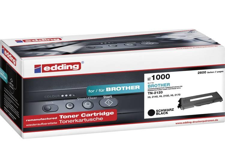 Edding Tonercassette vervangt Brother TN-2120 Compatibel Zwart 2600 bladzijden EDD-1000