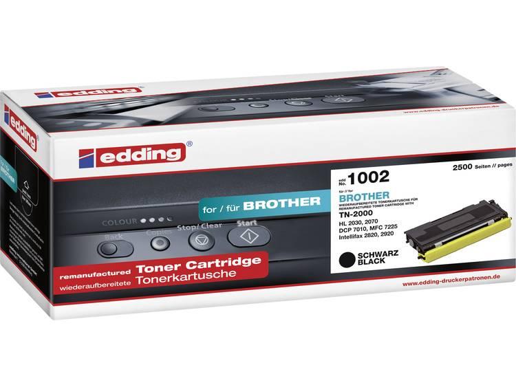 Edding Tonercassette vervangt Brother TN-2000 Compatibel Zwart 2500 bladzijden EDD-1002
