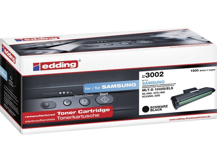 Edding Tonercassette vervangt Samsung MLT-D1042S Compatibel Zwart 1500 bladzijden EDD-3002