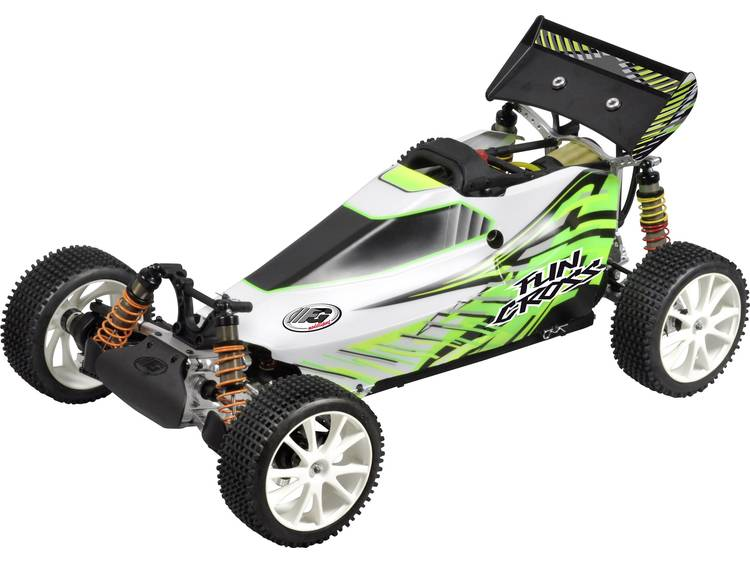 FG Modellsport 1:6 RC auto Benzine Buggy 4WD RTR 2,4 GHz Incl. accu, oplader en batterijen voor de z