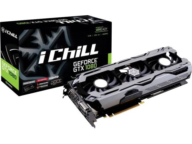 Videokaart Inno 3D Nvidia GeForce GTX1080 iChill X3 8 GB GDDR5X-RAM PCIe x16 HDMI, DVI, DisplayPort