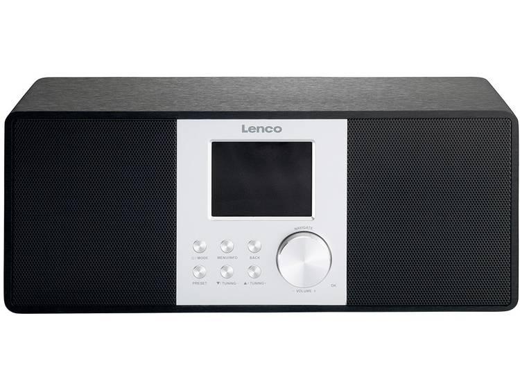 Lenco DIR-200 Internet Tafelradio AUX, DAB+, Internetradio Geschikt voor DLNA Zw