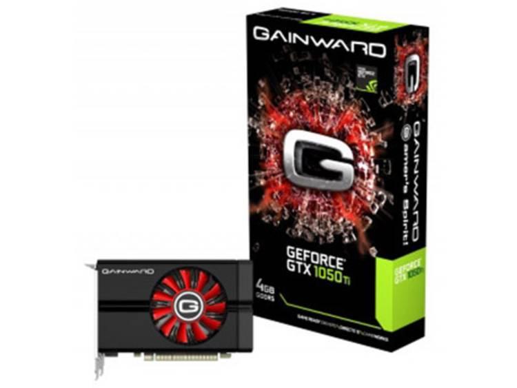 Videokaart Gainward Nvidia GeForce GTX1050 Ti 4 GB GDDR5-RAM PCIe x16 HDMI, DVI, DisplayPort