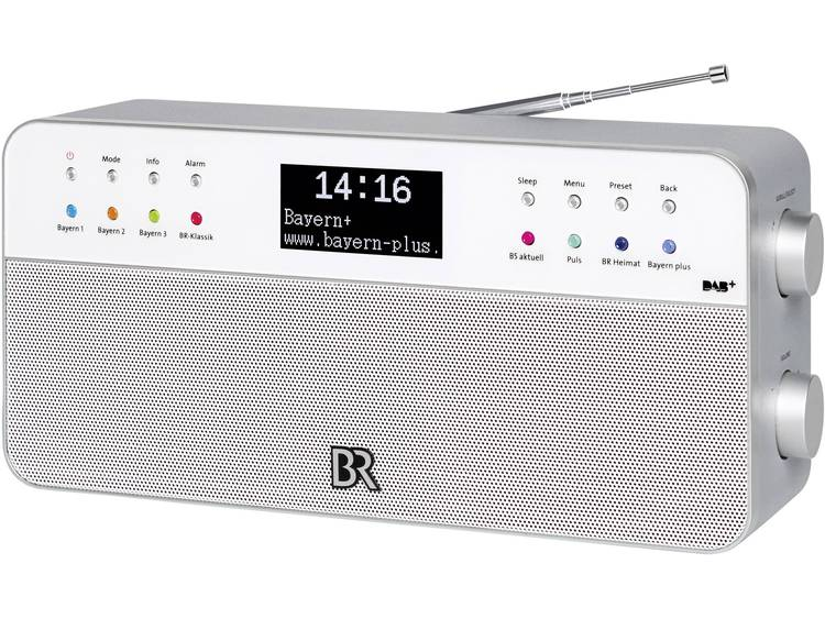 DAB+ Tafelradio BR Radio 2 AUX, FM Wit