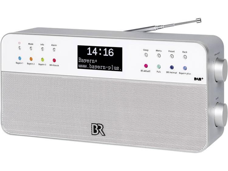 BR2 DAB+ Tafelradio AUX, FM Wit
