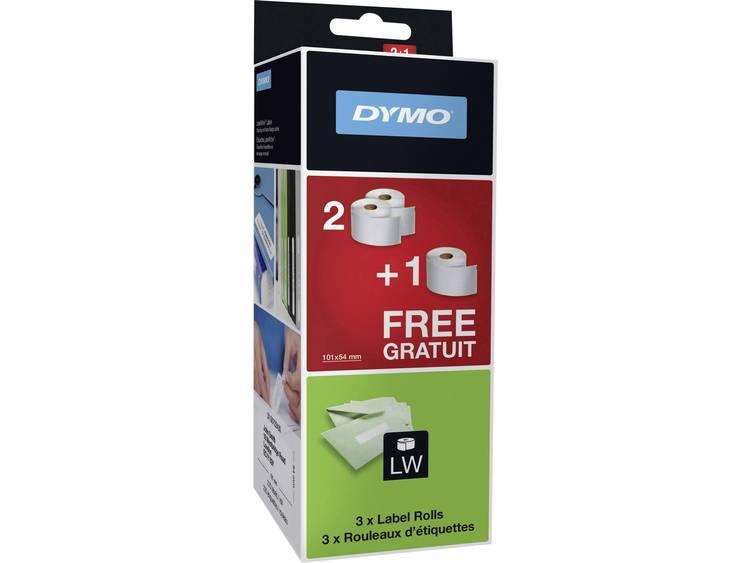 DYMO Etiketten (rol) 101 x 54 mm Papier Wit 660 stuks Permanent 2015540 Verzendetiketten