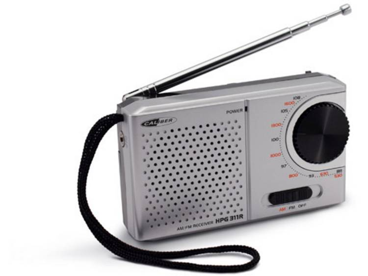 Caliber Audio Technology HPG 311R FM Zakradio Middengolf, FM Grijs