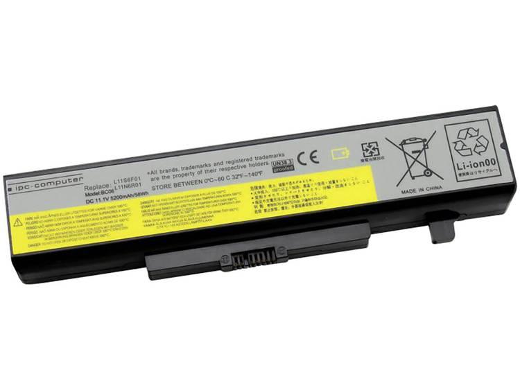 Laptopaccu ipc-computer Vervangt originele accu 121500043, 121500040, 121500266, 121500042 11.1 V 52