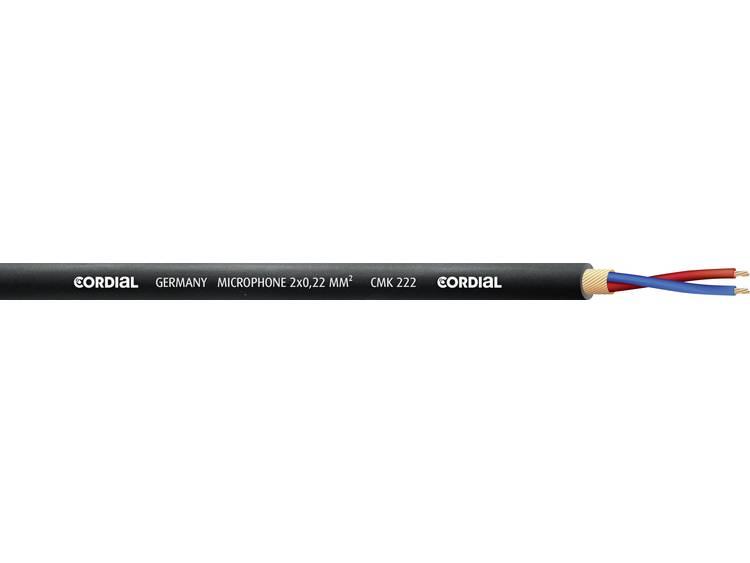 Cordial CMK 222 BLUE 100 Microfoonkabel 2 x 0.22 mm² Blauw Per meter