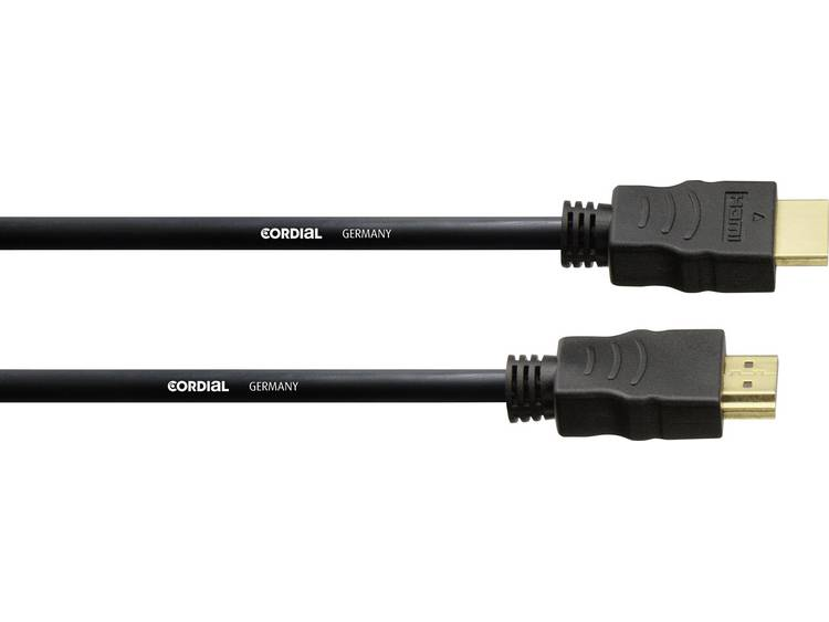 HDMI Kabel Cordial [1x HDMI-stekker - 1x HDMI-stekker] 3 m Zwart