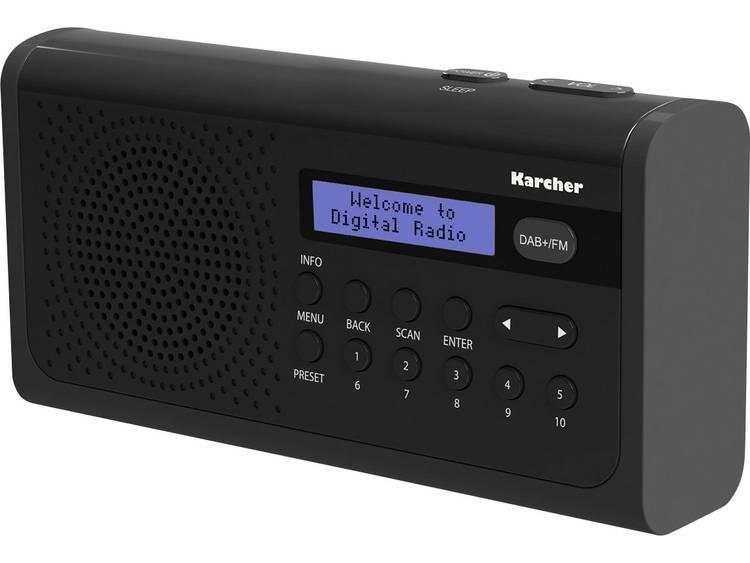Karcher DAB 2405 DAB+ Tafelradio DAB+, FM Zwart