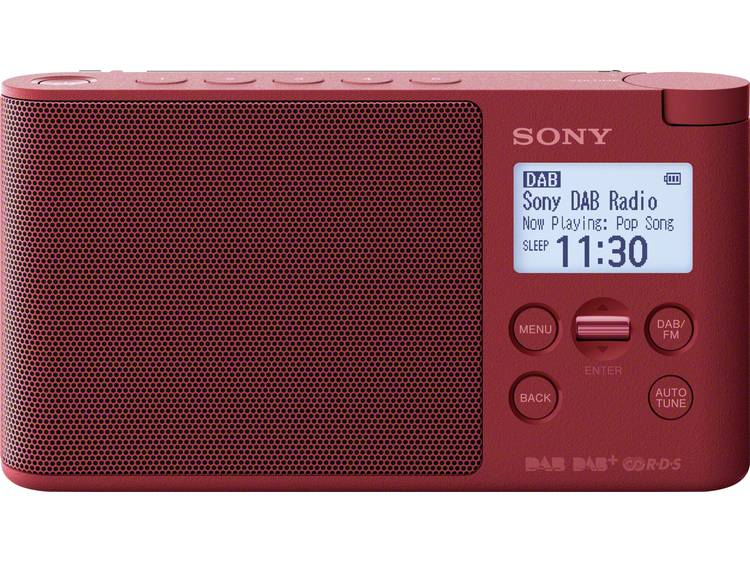 Sony XDR-S41D DAB+ Tafelradio DAB+, FM Rood