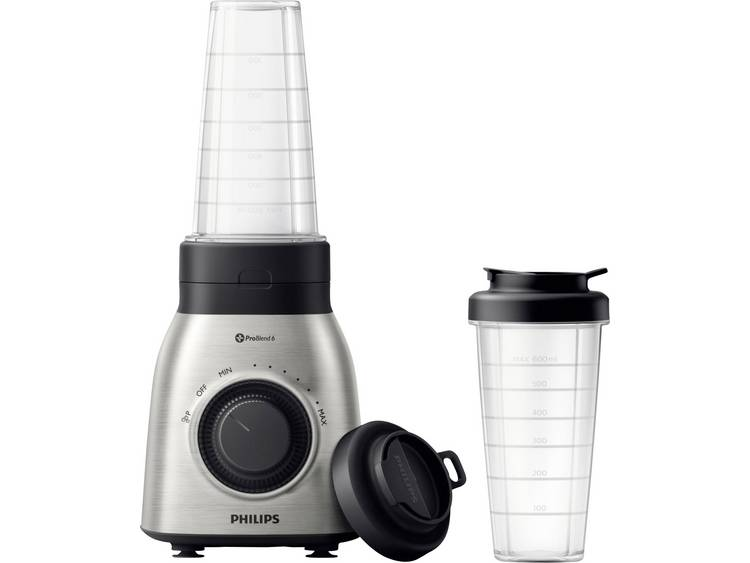 Philips HR3551/00 Blender 700 W Zilver, Zwart