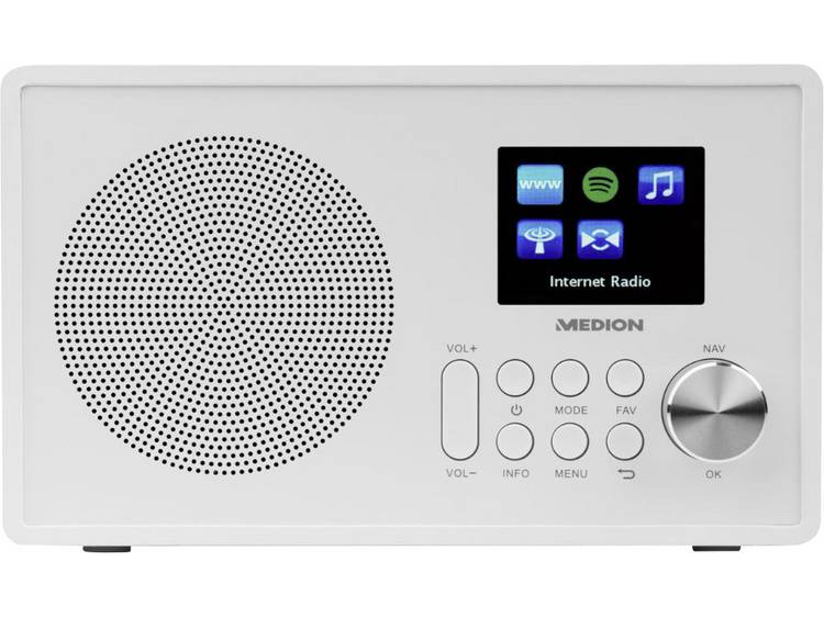 Medion E85080 (MD87528) FM AUX, WiFi, USB, Internetradio Spotify Wit