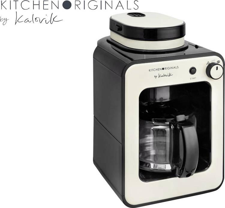 TKG Team Kalorik TKG CCG 1001 KTO Koffiezetapparaat Creme-wit Capaciteit koppen: 6 Glazen kan. met koffiemolen. met filterkoffie-functie
