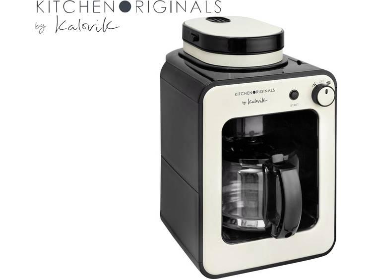 TKG Team Kalorik TKG CCG 1001 KTO Koffiezetapparaat Crème-wit Capaciteit koppen: 6 Glazen kan, Met koffiemolen, Met filterkoffie-functie