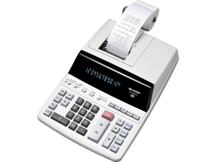 Sharp EL-2607PG Wit Aantal displayposities: 12 werkt op het lichtnet