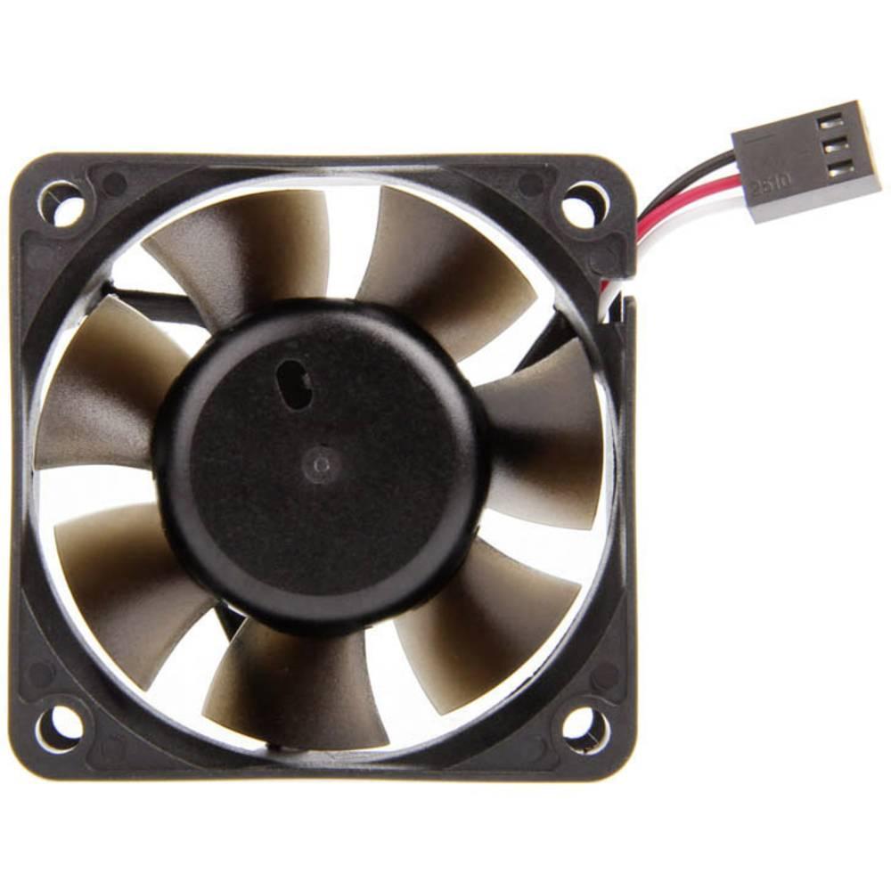 NoiseBlocker BlackSilent Pro PR-1 Chassi-fläkt Svart (B x H x D) 60 x 60 x 25 mm