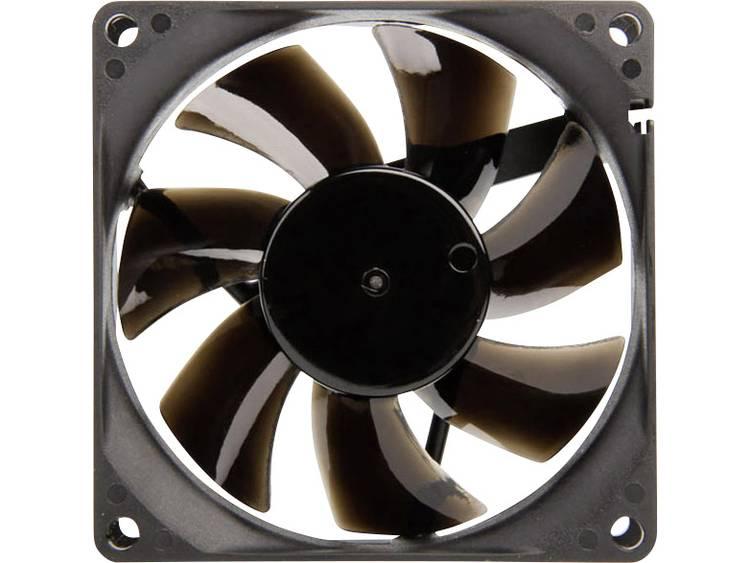 PC ventilator NoiseBlocker BlackSilent Pro P-P Zwart (b x h x d) 80 x 80 x 25 mm