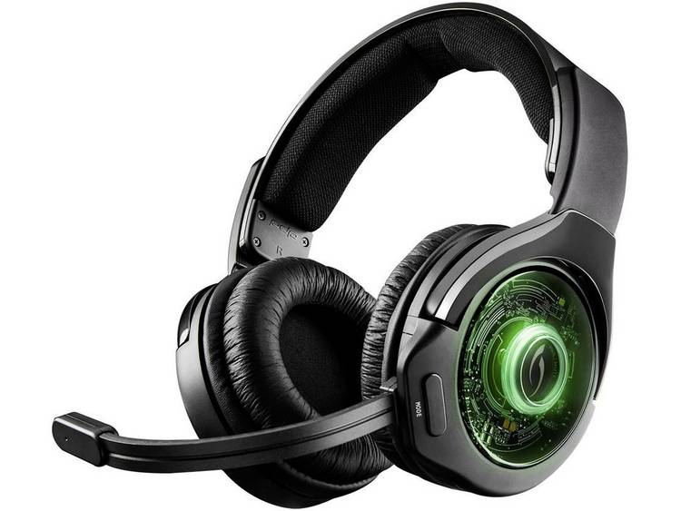 Gaming headset USB Draadloos, Stereo Afterglow AG 9 Over Ear Zwart