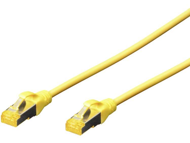 Netwerkkabel RJ45 CAT 6A S/FTP 10 m Geel Digitus Professional