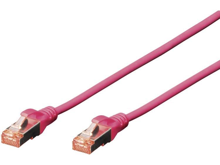 Netwerkkabel RJ45 CAT 6 S/FTP 2 m Magenta Digitus Professional