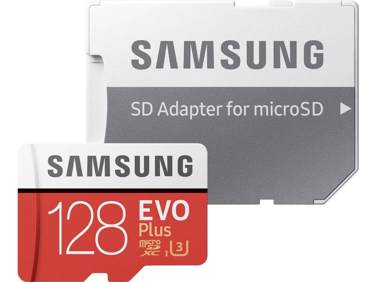 Samsung EVO Plus microSDXC-kaart 128 GB Class 10, UHS-I, UHS-Class 3 incl. SD-adapter